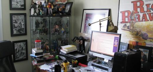 Chuck Dixon's desk